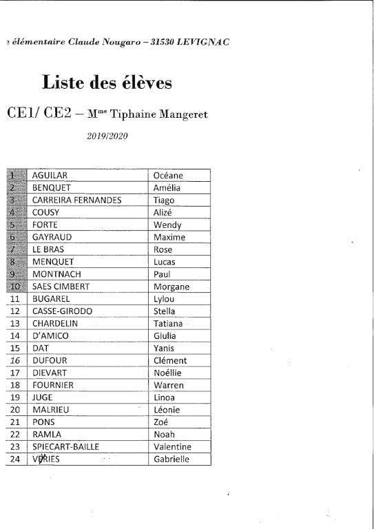 CE1:CE2 MME MANGERET